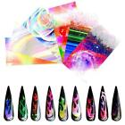 Fire Flame Nail Stickers Hollow Holographic Nail Art Transfer Foil Decals Decor