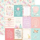 "3""X4"" Journaling Cards - Hello Baby Girl Double-Sided Cardstock 12""X12"" -25/pack"