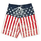 USA Distressed Patriotic American Flag Boardshorts