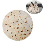 Round Burrito Tortilla Blanket Giant Wrap Blanket Soft Plush Towel Adults Kids image