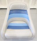 1983+Concord+20%27+Marine+Boat+Blue%2FGrey+Captains+Chair+Seat+19%22+H+x+21+3%2F4%22+W