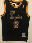 Kobe Bryant #8 Los Angeles Lakers Retro THROWBACK Men's Jersey Black
