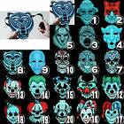 Halloween Sound Reactive Full Face LED Lights Masks Rave EDM Plur Dance Funny