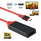 USB-C Type-C to HDMI HDTV Adapter Cable For Samsung S9 S8 Note 8 MacBook Black