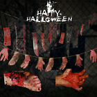 Halloween Banner Hanging Scary Decoration Bloody Hand Feet Garland Haunted Party