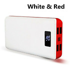 900000mAh 4USB External Power Bank Portable LCD LED Charger for Cell Phone US