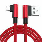 Red Braided 90 Degree Data Charger Cable For Sony Xperia miro