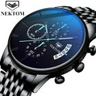 Classic Black Business Watch Stainless Steel Mens Watches Luxury Waterproof Quar