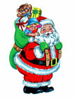 Vintage Image Shabby Retro Santa Claus With Toy Sack Waterslide Decals CHR270