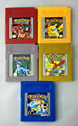Pokemon Red Blue Yellow Gold Silver for Gameboy Color (GBC) USA version