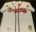 ⚾ New Chipper Jones #10 Atlanta Braves Cooperstown Throwback Jersey on Ebay