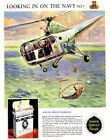 British Royal Navy Air Sea Rescue Helicoper Cigarette Ad Vintage 8x10 Photo
