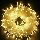 Fairy String Lights 100-500 LED Wedding Garden Xmas Solar Battery Mains Plug In