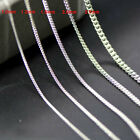 GENUINE 925 STERLING SILVER CURB CHAIN NECKLACE FOR MEN WOMEN 14