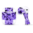 Skins Wraps compatible for Apple Airpods  Neurons Purple Web Skin Weird