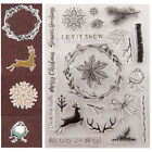 Let It Snow Silicone Clear Transparent Stamp and Cutting Dies DIY Scrapbooking