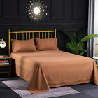 Egyptian Comfort 4-Piece Bed Sheet Set Queen/King - 100% Polyester High Quality image