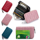 Wallet For Women Mini RFID Blocking Credit Card Holder Leather Zipper Coin Purse image