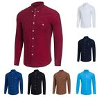 Men's Turn-down Collar T-shirts Button Long-sleeve Business Tops Formal Shirt