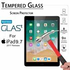 """For Apple iPad 5th Generation 9.7"""" 2017 Clear HD Tempered Glass Screen Protector"""