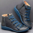 Ladies Winter Ankle Boots Womens Work Boots Casual Multi Colors Hot Flat Heel