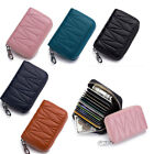 Womens Wallet Mini RFID Blocking Credit Card Holder Leather Zipper Coin Purse image