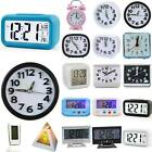 LCD Digital Clock Battery Operated Snooze Electronic Alarm Clocks Kid Gift Alarm