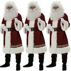 DELUXE 5 PIECE SANTA CLAUS SUIT FATHER CHRISTMAS COSTUME XMAS FANCY DRESS US