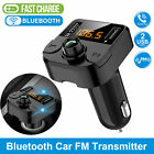 Wireless Bluetooth 5.0 FM Transmitter MP3 Radio Adapter Car Fast 2 USB Charger