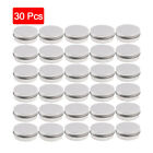 30 Small Mini Round Tin Can Boxes Metal Jewelry Storage Container 30ml with Lids