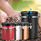 Stainless Steel Coffee Tea Canister Jar Box Sugar Storage Pot Seal Can Container