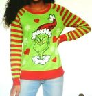 JUNIORS Women's XS S M L XL XXL THE GRINCH WHO STOLE CHRISTMAS Ugly Sweater NWT