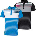 Bobby Jones Mens Rule 18 Tech Cove Stripe Tailored Golf Polo Shirt 57% OFF RRP