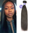8A Brazilian Straight Bundle 100% Unprocessed Human Hair Nature Black Color 100g
