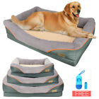Jumbo Orthopedic Dog Bed Couch Washable Soft Foam Pet Sofa with Removable Cover