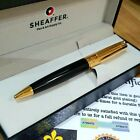 24k Gold Plated Shiny Sheaffer 300 Series Twist Ball Point Writing Pen Black Ink