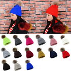 Womens Winter Warm Hat Knit Hat Crochet Hairball Beanie Thickened Casual Ski Cap