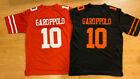 Jimmy Garoppolo 10 San Francisco 49ers Mens On Field Game BLACK or RED Jersey $39.99 USD on eBay