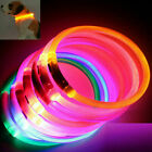 Rechargeable USB Waterproof LED Flashing Light Band Safety Pet Dog Collar