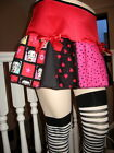 Betty Boop skirt Red Pink Black blue Skulls Hearts Cheerleader Roller derby GB $54.35 AUD on eBay