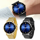 Classic Men's Analog Date Dress Sport Mesh Stainless Steel Business Wrist Watch image