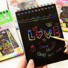 Kids Rainbow Colorful Scratch Art Kit Magic Drawing Painting Paper Notebook Sanw