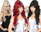 Ladies Long Curly Renaissance Beehive Medieval Wig Fancy Dress Costume Outfit