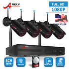 ANRAN 4CH 1080P Security Camera System Wireless Outdoor With 1TB Hard Drive Home