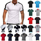 Men Polo Shirt Golf Work Short Sleeve Tops Slim Fit Summer Casual Sports T-Shirt