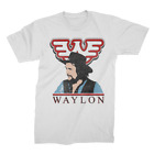 WAYLON JENNINGS Colorized T SHIRT S-M-L-XL-2XL New Official Kings Road Merch image