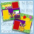CHEEZY FUN  GAMES Printed Premade Scrapbook Pages