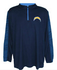 NFL Team Apparel Los Angeles Chargers TX3 Cool Large 1/4 Zip Pullover Shirt $18.99 USD on eBay