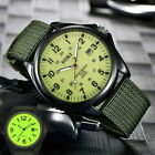 Men's Watch Military Army Canvas Calendar Analog Quartz Sports Wrist-Watches image