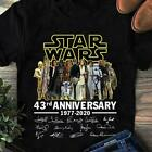 Star Wars cast all signed 43rd anniversary 1977-2020 gift fan t-shirt S_5XL $15.99 USD on eBay